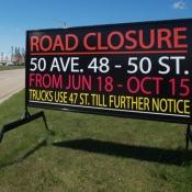 Construction Sign Edmonton